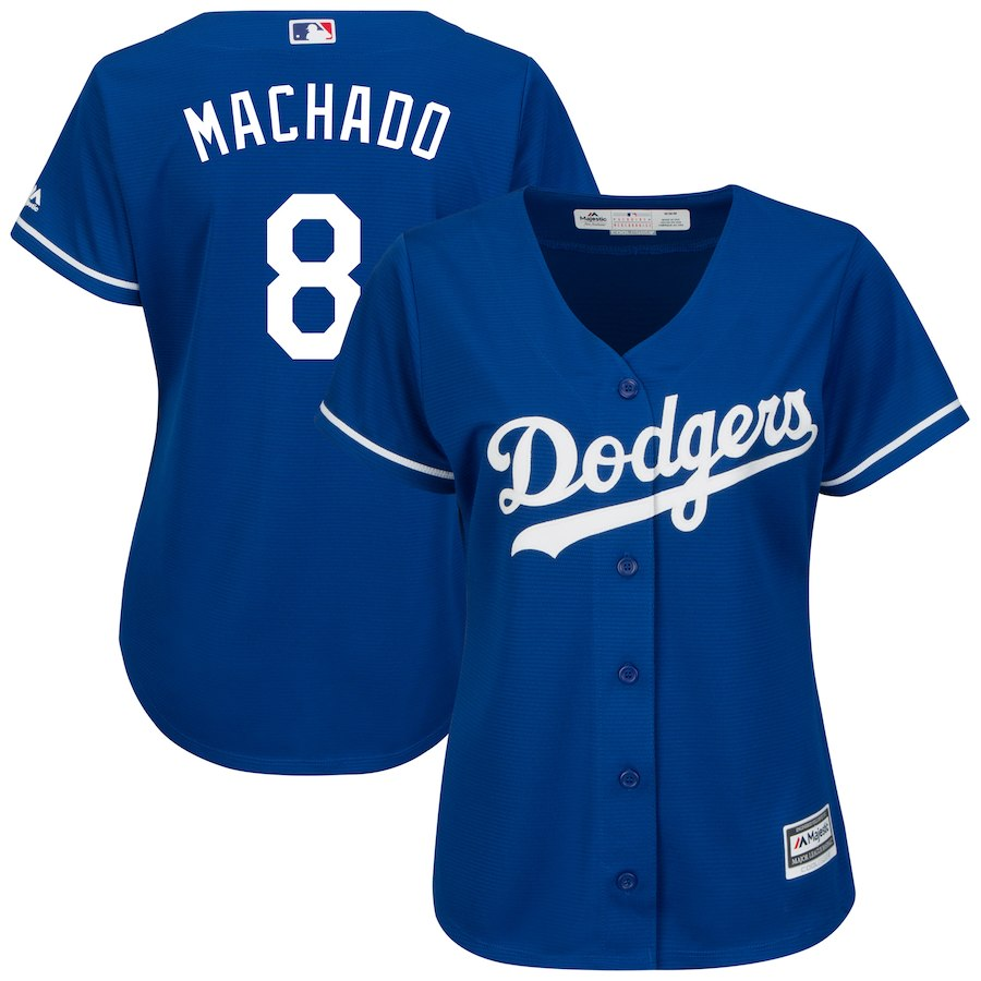 Women's Los Angeles Dodgers Manny Machado Royal Cool Base Player Jersey