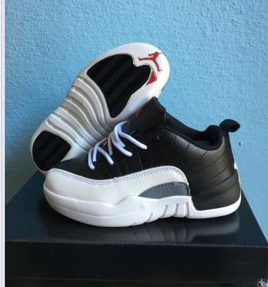 kid air jordan 12 low top shoes-001