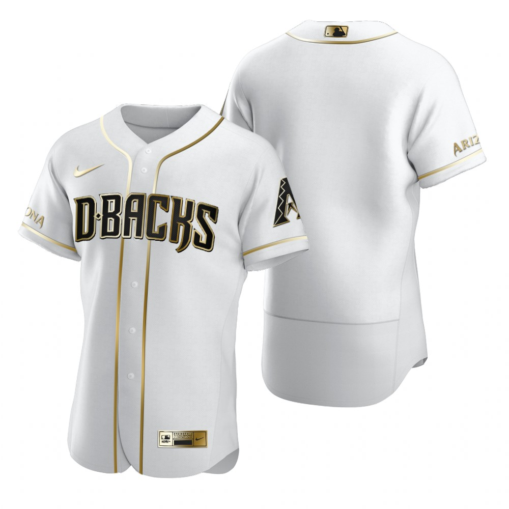 Arizona Diamondbacks Blank White Nike Men's Authentic Golden Edition MLB Jersey