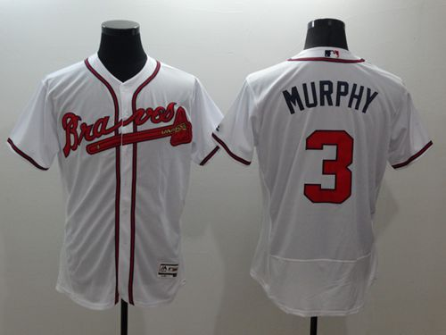 Braves #3 Dale Murphy White Flexbase Authentic Collection Stitched MLB Jersey