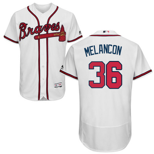 Braves #36 Mark Melancon White Flexbase Authentic Collection Stitched MLB Jersey