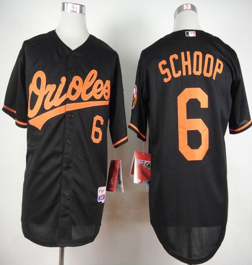 Orioles #6 Jonathan Schoop Black Cool Base Stitched MLB Jersey