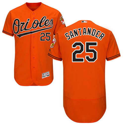 Orioles #25 Anthony Santander Orange Flexbase Authentic Collection Stitched MLB Jersey