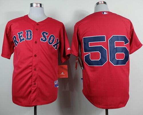 Red Sox #56 Joe Kelly Red Cool Base Stitched MLB Jersey