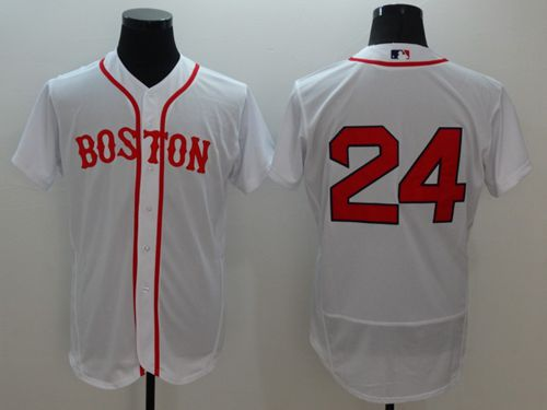 Red Sox #24 David Price White Flexbase Authentic Collection Alternate Home Stitched MLB Jersey