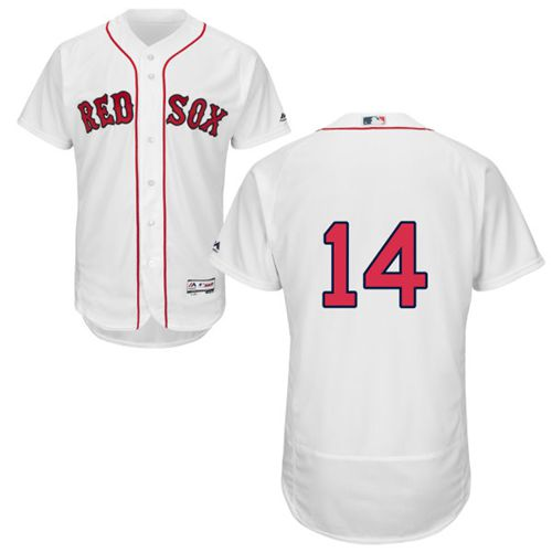 Red Sox #14 Jim Rice White Flexbase Authentic Collection Stitched MLB Jersey