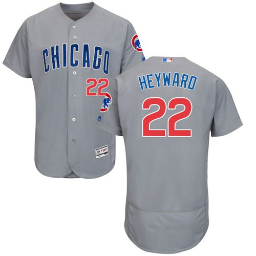 Cubs #22 Jason Heyward Grey Flexbase Authentic Collection Road Stitched MLB Jersey