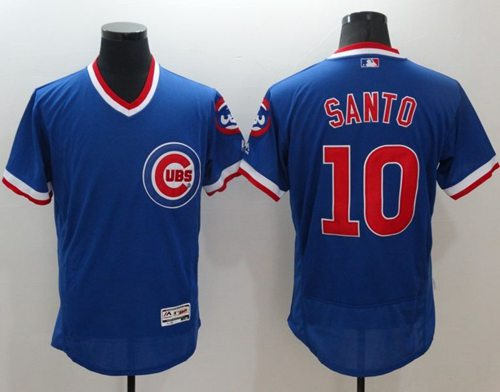 Cubs #10 Ron Santo Blue Flexbase Authentic Collection Cooperstown Stitched MLB Jersey