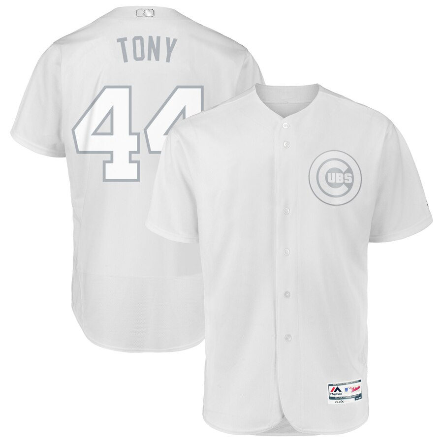 Chicago Cubs #44 Anthony Rizzo Tony Majestic 2019 Players' Weekend Flex Base Authentic Player Jersey White