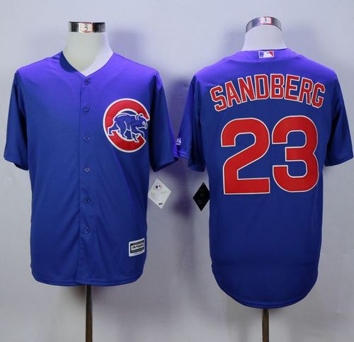 Cubs #23 Ryne Sandberg Blue New Cool Base Stitched MLB Jersey