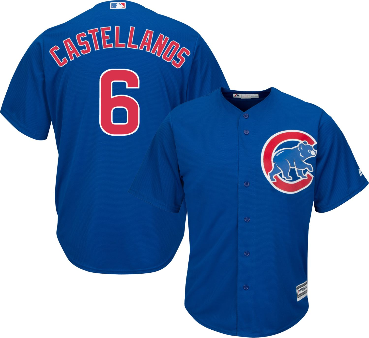 Cubs #6 Nicholas Castellanos Blue New Cool Base Stitched MLB Jersey