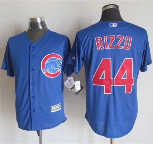 Cubs #44 Anthony Rizzo Blue New Cool Base Stitched MLB Jersey
