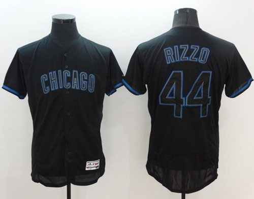 Cubs #44 Anthony Rizzo Black Fashion Flexbase Authentic Collection Stitched MLB Jersey