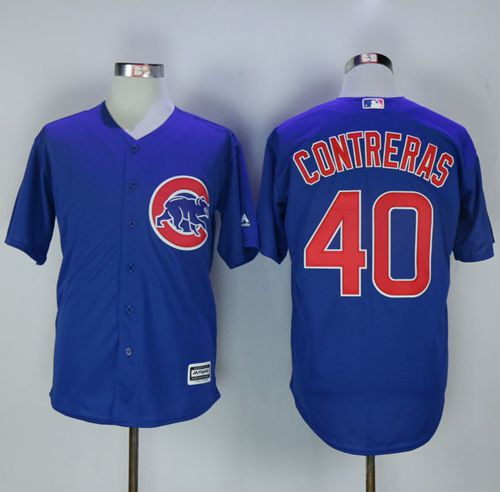 Cubs #40 Willson Contreras Blue New Cool Base Stitched MLB Jersey