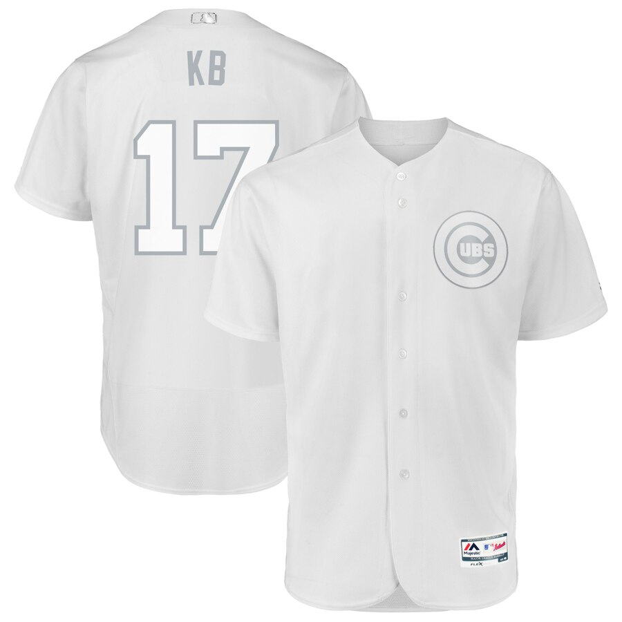 Chicago Cubs #17 Kris Bryant KB Majestic 2019 Players' Weekend Flex Base Authentic Player Jersey White