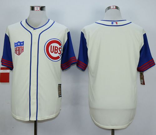 Cubs Blank Cream 1942 Turn Back The Clock Stitched MLB Jersey