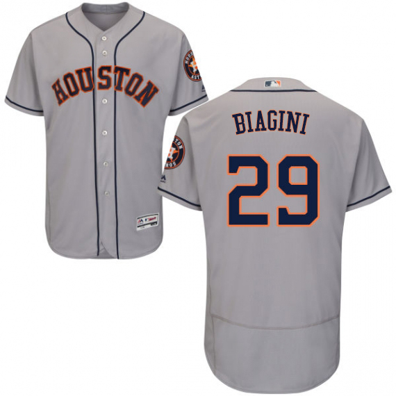 Astros #29 Joe Biagini Grey Flexbase Authentic Collection Stitched MLB Jersey