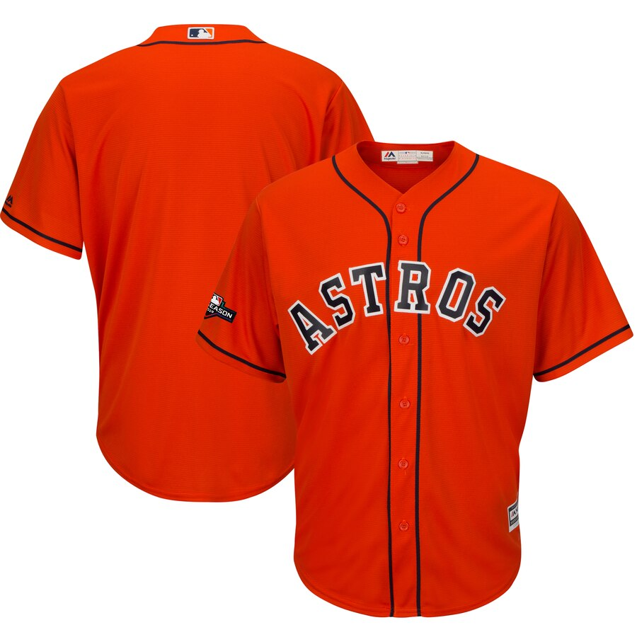 Houston Astros Majestic 2019 Postseason Official Cool Base Player Jersey Orange