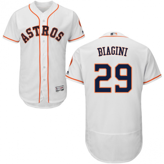 Astros #29 Joe Biagini White Flexbase Authentic Collection Stitched MLB Jersey