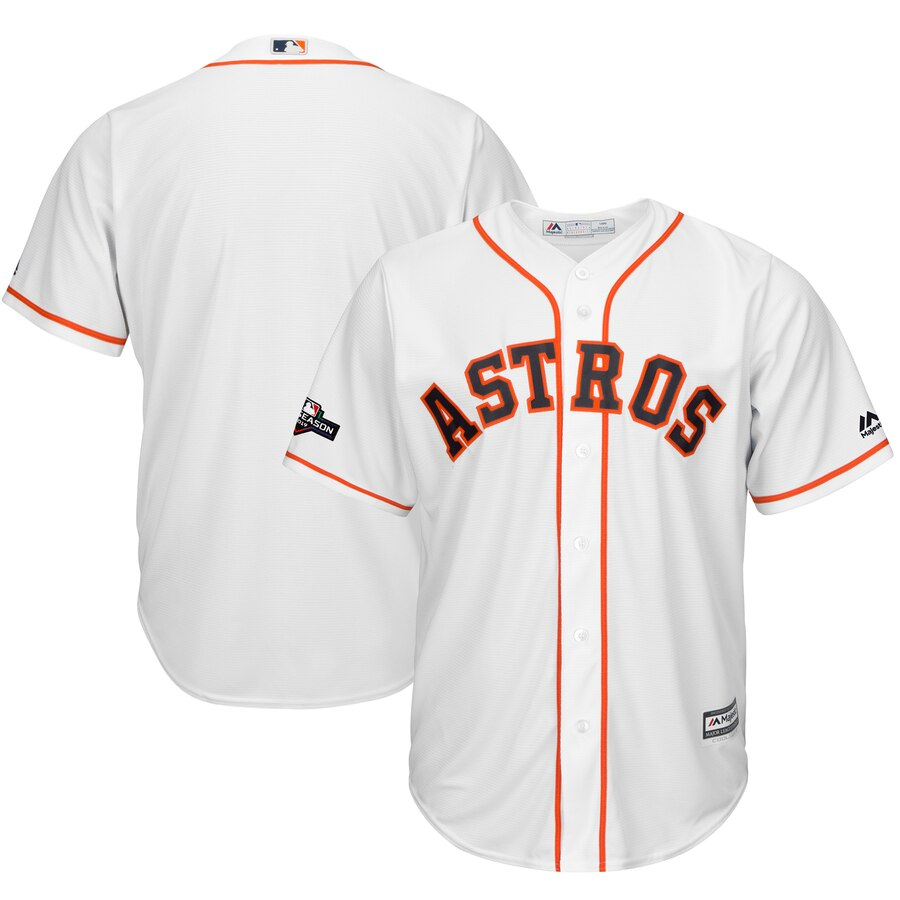 Houston Astros Majestic 2019 Postseason Official Cool Base Player Jersey White
