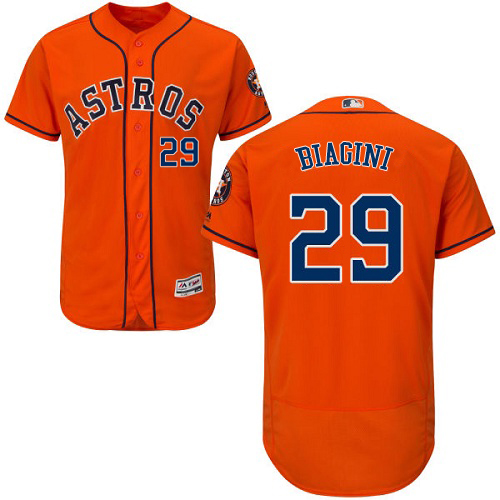 Astros #29 Joe Biagini Orange Flexbase Authentic Collection Stitched MLB Jersey