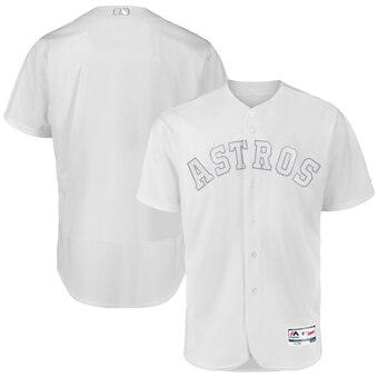 Houston Astros Blank Majestic 2019 Players' Weekend Flex Base Authentic Team Jersey White
