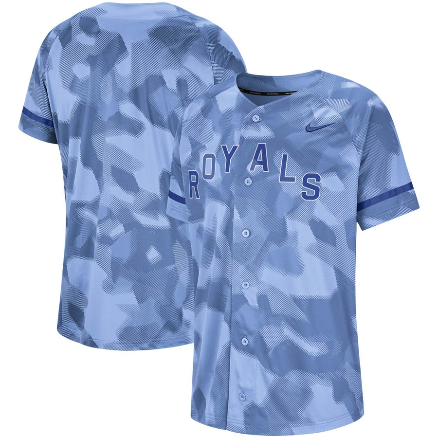 Kansas City Royals Nike Camo Jersey Blue
