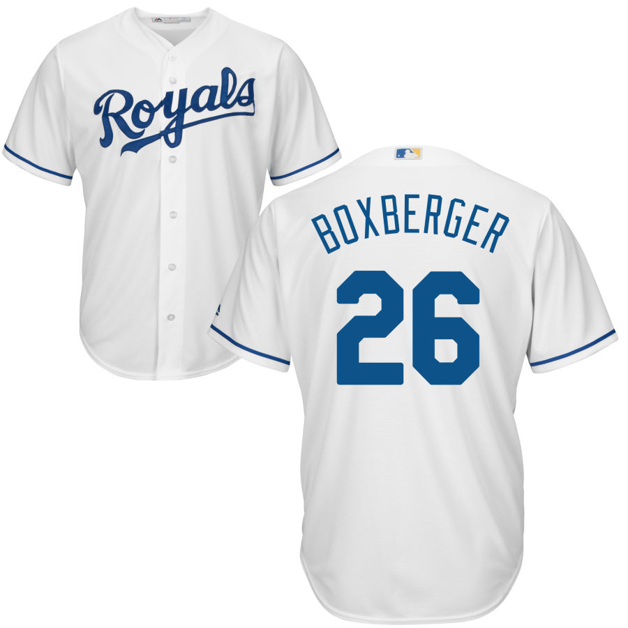 Royals #26 Brad Boxberger White Cool Base Stitched MLB Jersey
