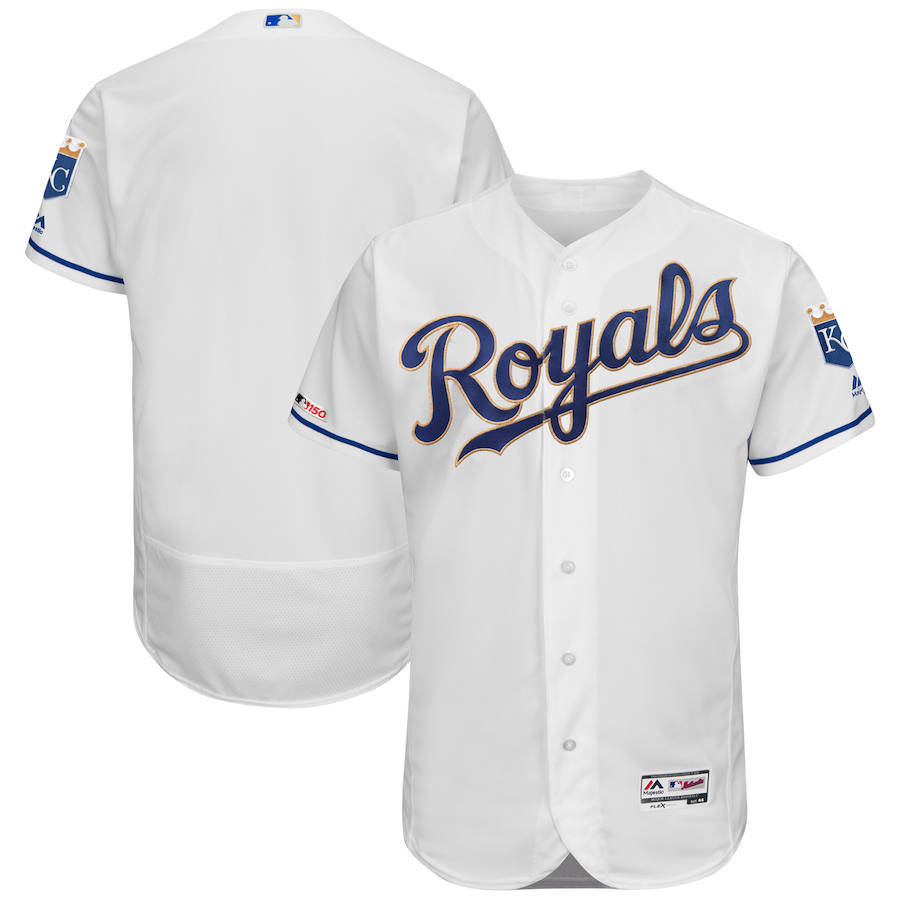 Kansas City Royals Majestic Alternate Flexbase Authentic Collection Team Jersey White