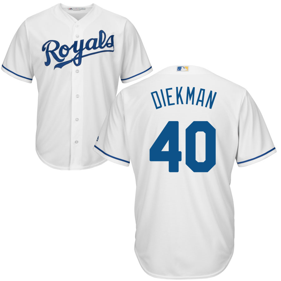 Royals #40 Jake Diekman White Cool Base Stitched MLB Jersey