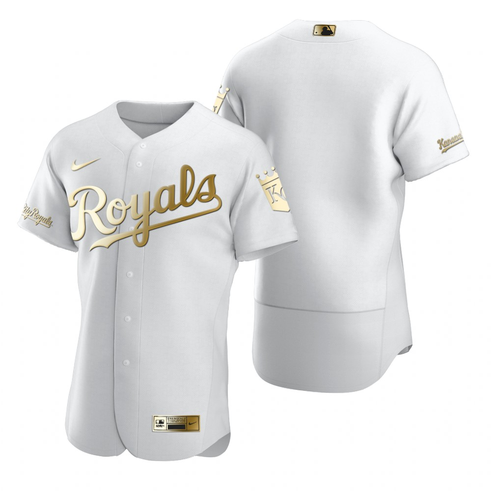 Kansas City Royals Blank White Nike Men's Authentic Golden Edition MLB Jersey