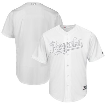Kansas City Royals Blank Majestic 2019 Players' Weekend Cool Base Team Jersey White
