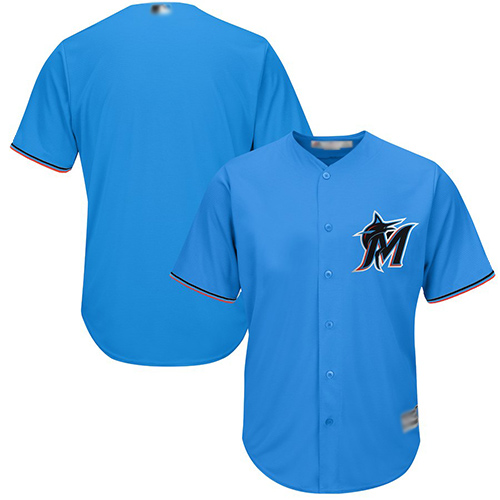 marlins Blank Blue New Cool Base Stitched MLB Jersey