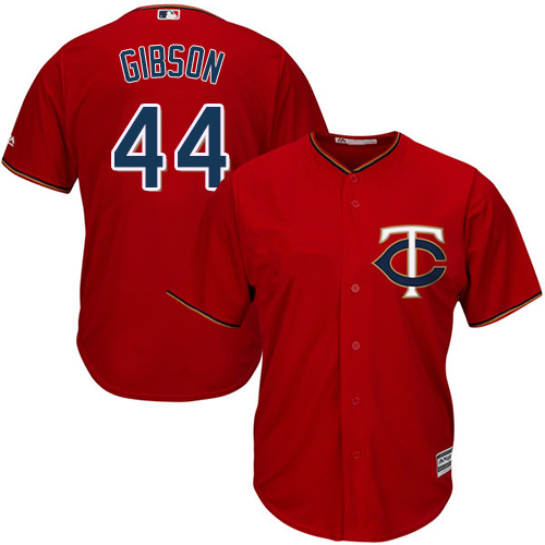 Twins #44 Kyle Gibson Red Cool Base Stitched MLB Jersey