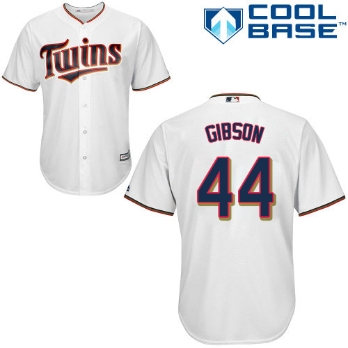 Twins #44 Kyle Gibson White Cool Base Stitched MLB Jersey