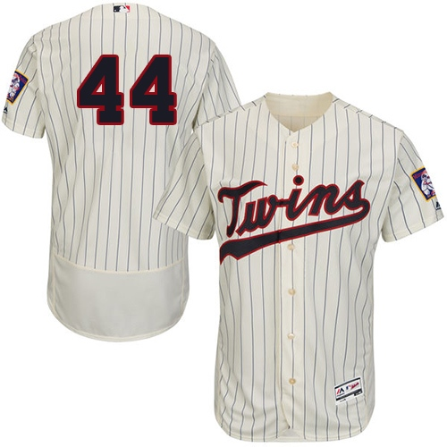 Twins #44 Kyle Gibson Cream Strip Flexbase Authentic Collection Stitched MLB Jersey