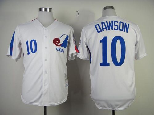 Mitchell And Ness 1982 Expos #10 Andre Dawson White Throwback Stitched MLB Jersey