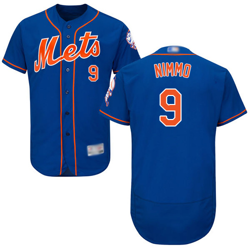 Mets #9 Brandon Nimmo Blue Flexbase Authentic Collection Stitched MLB Jersey