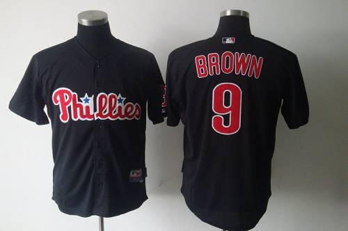 Phillies #9 Domonic Brown Black Stitched MLB Jersey