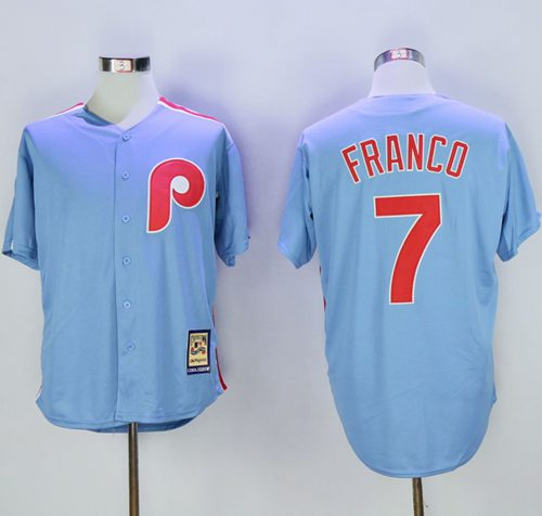 Phillies #7 Maikel Franco Light Blue Cooperstown Stitched MLB Jersey