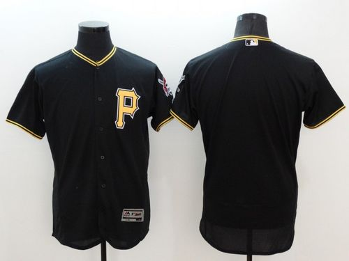Pirates Blank Black Flexbase Authentic Collection Stitched MLB Jersey