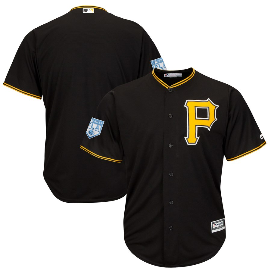 Pirates Blank Black 2019 Spring Training Cool Base Stitched MLB Jersey