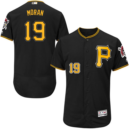 Pirates #19 Colin Moran Black Flexbase Authentic Collection Stitched MLB Jersey