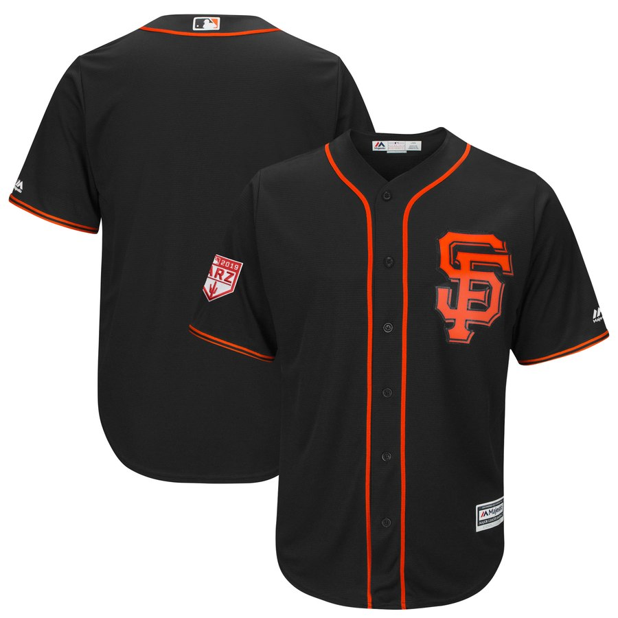 Giants Blank Black 2019 Spring Training Cool Base Stitched MLB Jersey