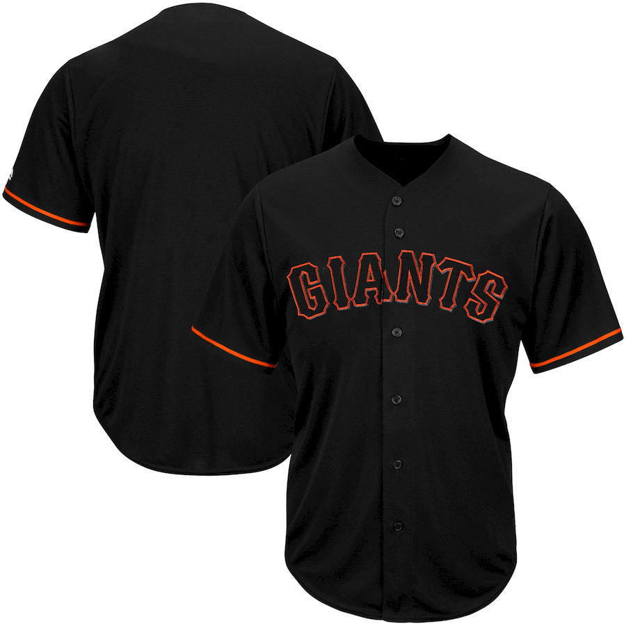 San Francisco Giants Majestic Big & Tall Pop Fashion V-Neck Jersey Black