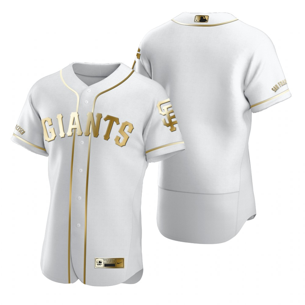 San Francisco Giants Blank White Nike Men's Authentic Golden Edition MLB Jersey