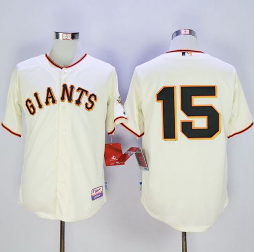 Giants #15 Bruce Bochy Cream Home Cool Base Stitched MLB Jersey