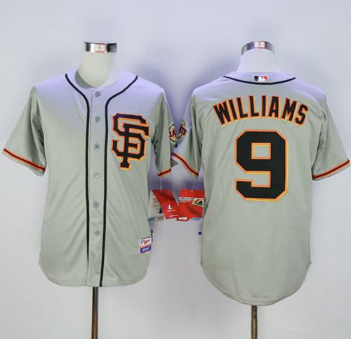 Giants #9 Matt Williams Grey Cool Base Road 2 Stitched MLB Jersey