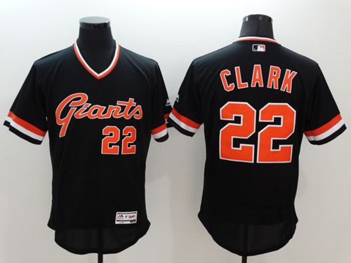 Giants #22 Will Clark Black Flexbase Authentic Collection Cooperstown Stitched MLB Jersey