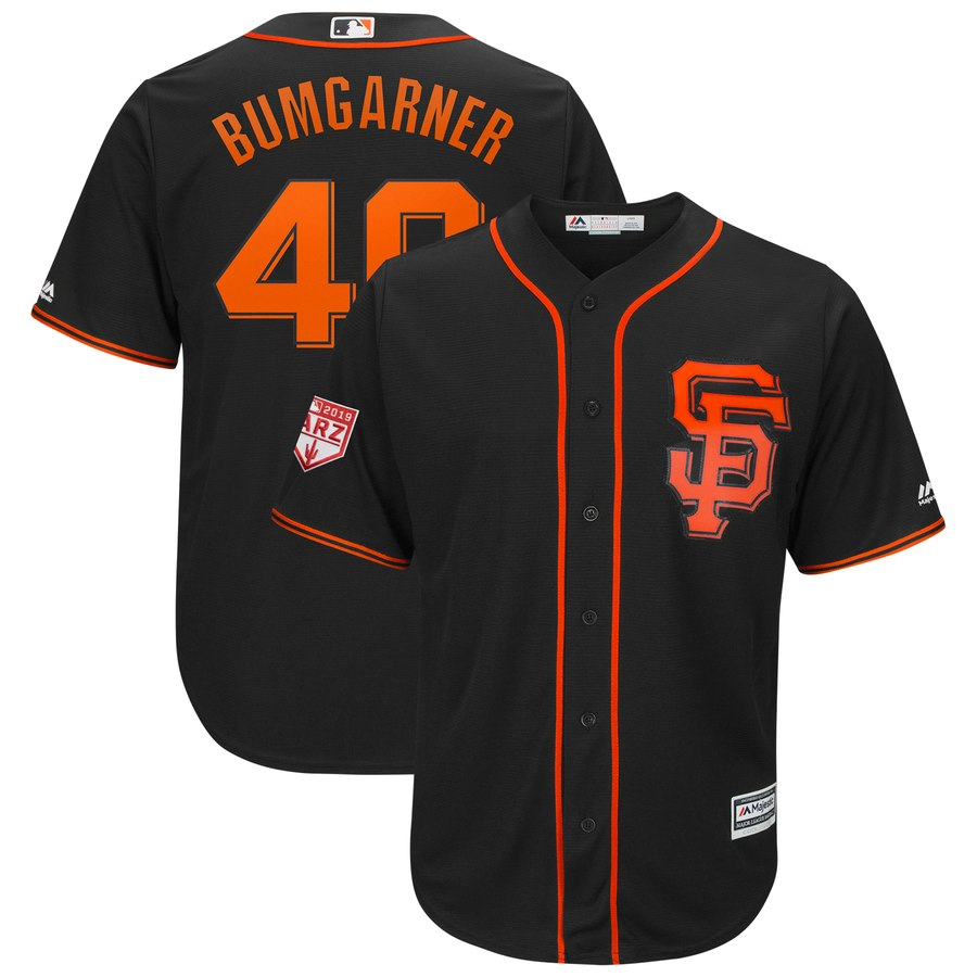 Giants #40 Madison Bumgarner Black 2019 Spring Training Cool Base Stitched MLB Jersey